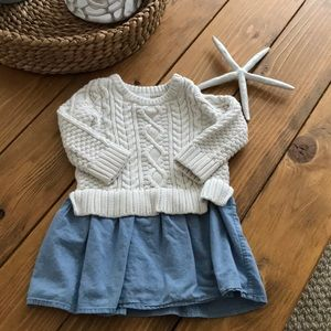 Baby girls sweater & jean dress!